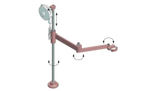 Accordion Articulated Arm : Total torque reaction arms air tool services